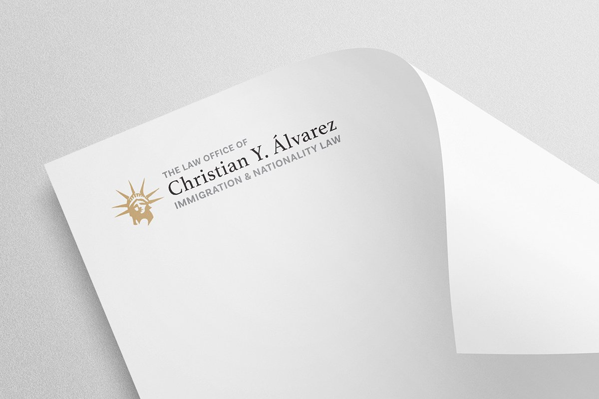 Christian Y. Alvarez Law brand identity by Beri Group