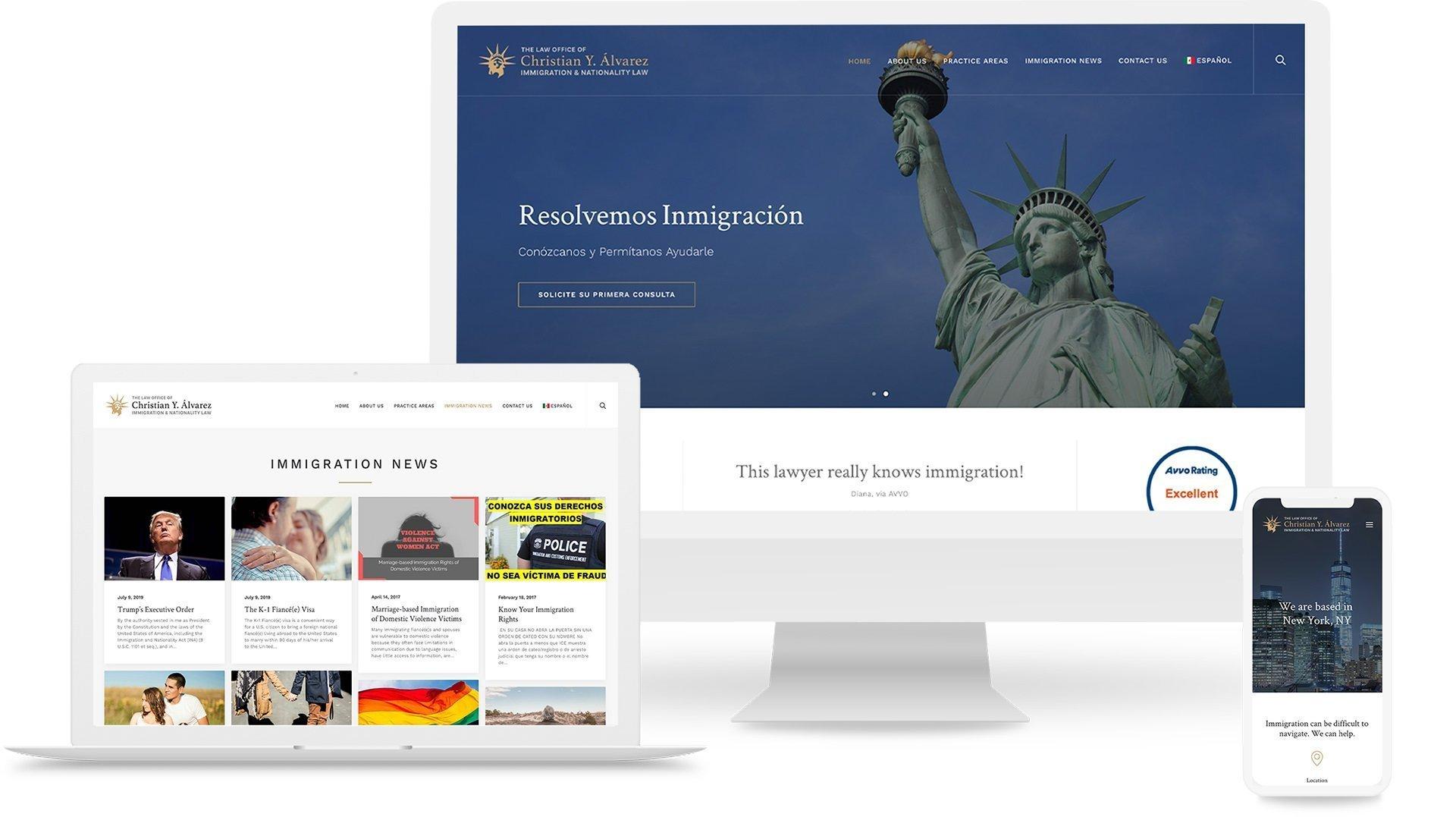 Christian Y. Alvarez Law website by Beri Group